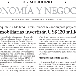 Inmobiliarias invertirán US$ 120 millones en La Dehesa
