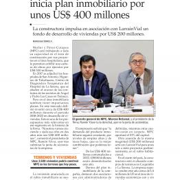Moller y Pérez-Cotapos inicia plan inmobiliario por unos $400 millones