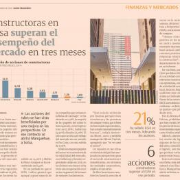 DF: Constructoras en bolsa superan el desempeño del mercado en tres meses