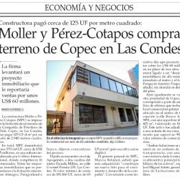 EyN: Moller y Pérez-Cotapos compra terreno de Copec en Las Condes