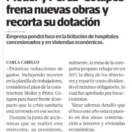 Moller y Pérez-Cotapos frena nuevas obras y recorta dotación