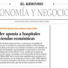 Moller apunta a hospitales y viviendas económicas