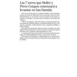 Las 7 torres que Moller y Pérez - Cotapos comenzará a levantar en San Damián