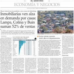 Inmobiliarias ven alza en demanda por casas: Lampa, Colina y Buin suman 52% de ventas
