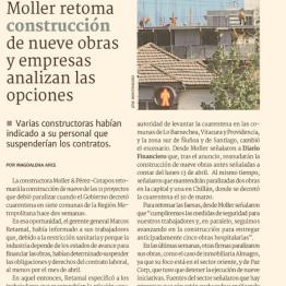 Moller retoma construcción de nueve obras y empresas analizan las opciones