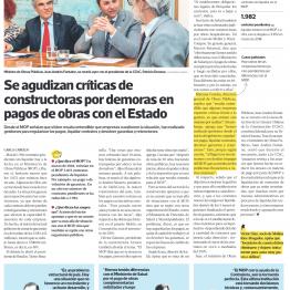 Se agudizan críticas de constructoras por demoras en pagos de obras con el Estado