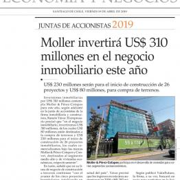 Moller invertirá US$ 310 millones en el negocio inmobiliario este año