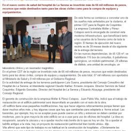 Empresa Moller y Pérez- Cotapos recibió terrenos para comenzar a construir el CDT