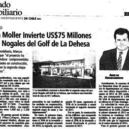 Inmobiliaria Moller Invierte US$75 millones en Proyecto Nogales del Golf de La Dehesa