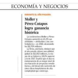 Moller y Pérez-Cotapos logra ganancia histórica