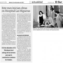 Este mes inician obras en Hospital Las Higueras