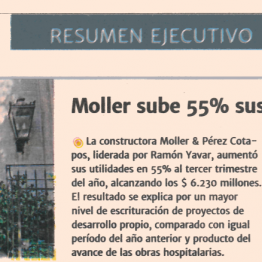 DF: Moller sube 55% sus utilidades
