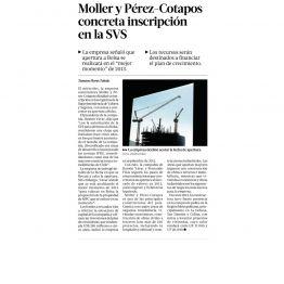 Moller y Pérez - Cotapos concreta inscripción en la SVS