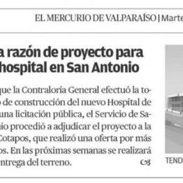 Contraloría toma razón de proyecto para construir nuevo hospital de San Antonio