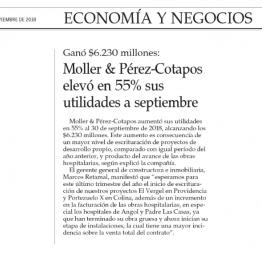 EyN: Moller & Pérez-Cotapos elevó en 55% sus utilidades a septiembre