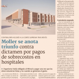 Se anota triunfo contra dictamen por pagos de sobre costos en hospitales