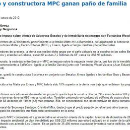 Enaco y constructora MPC ganan paño de los Matte