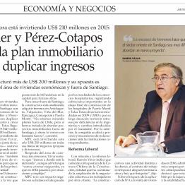 El Mercurio: Moller y Pérez-Cotapos revela plan inmobiliario para duplicar ingresos