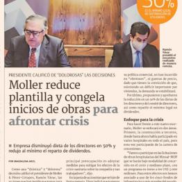 Moller reduce plantilla y congela inicios de obras para afrontar crisis