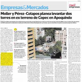 Moller y Pérez-Cotapos planea levantar dos torres en ex terreno de Copec en Apoquindo