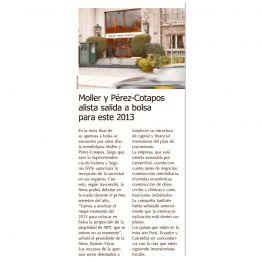 Moller y Pérez - Cotapos, alista salida a la bolsa para este 2013