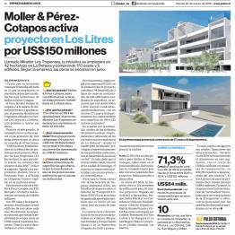 Pulso: Moller & Pérez Cotapos activa proyecto proyecto en Los Litres por US$150 millones