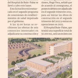 Construcción y operación del Hospital Buin-Paine será disputada por seis consorcios