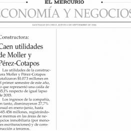 Caen utilidades de Moller y Pérez-Cotapos