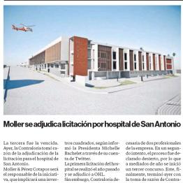 Moller se adjudica licitación por hospital de San Antonio