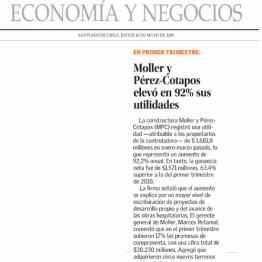 Moller y Pérez-Cotapos elevó en 92% sus utilidades